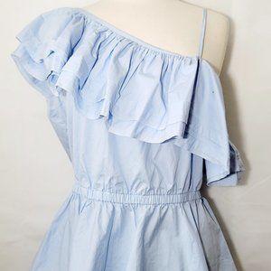 H&M Flutter Sleeve Blue Shirt Size 12 NEW